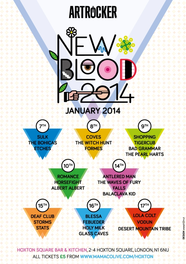 "This Thursday (16th) we are playing ""New Blood Festival"" for Artrocker at Hoxton Bar and Kitchen. Come on down..."